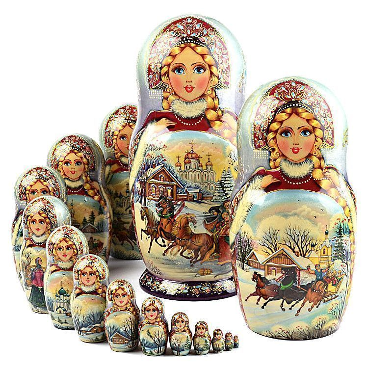 15pc Troika Collectible Matryoshka