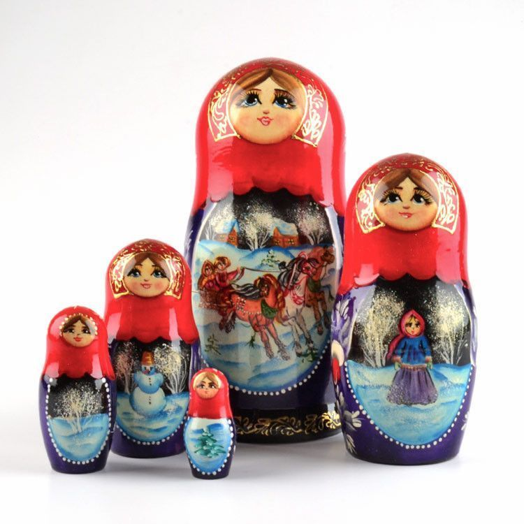 Russian Troika Nested Doll
