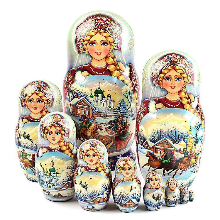 Russian Troika Collectible Matryoshka