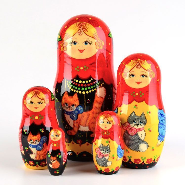 Matryoshka with Cat Russian Doll