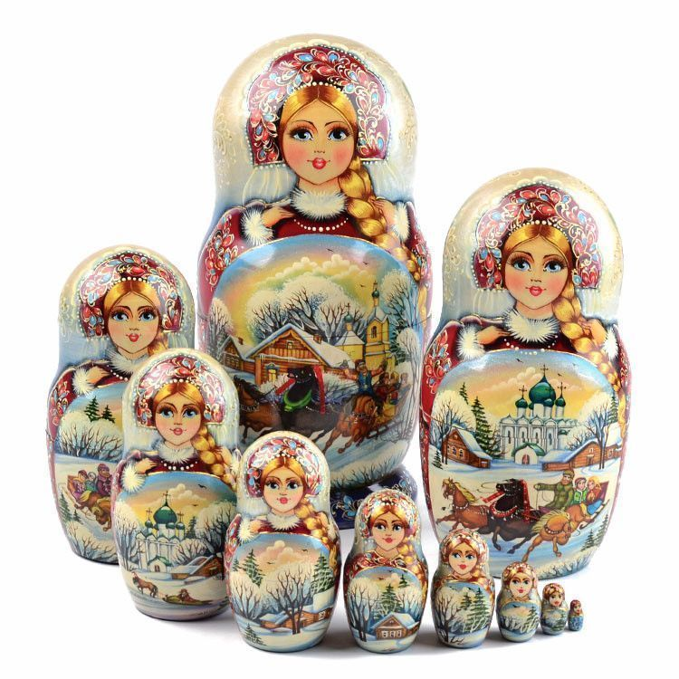 10pc Troika Collectible Matryoshka
