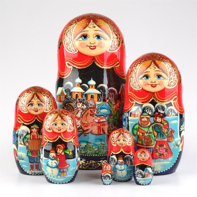Collectible Russian Troika Doll