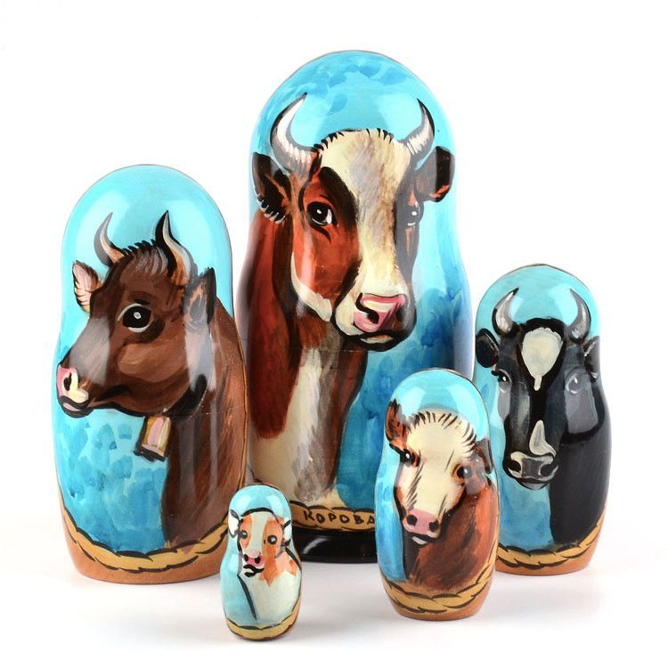 Cow Russian Stacking Doll