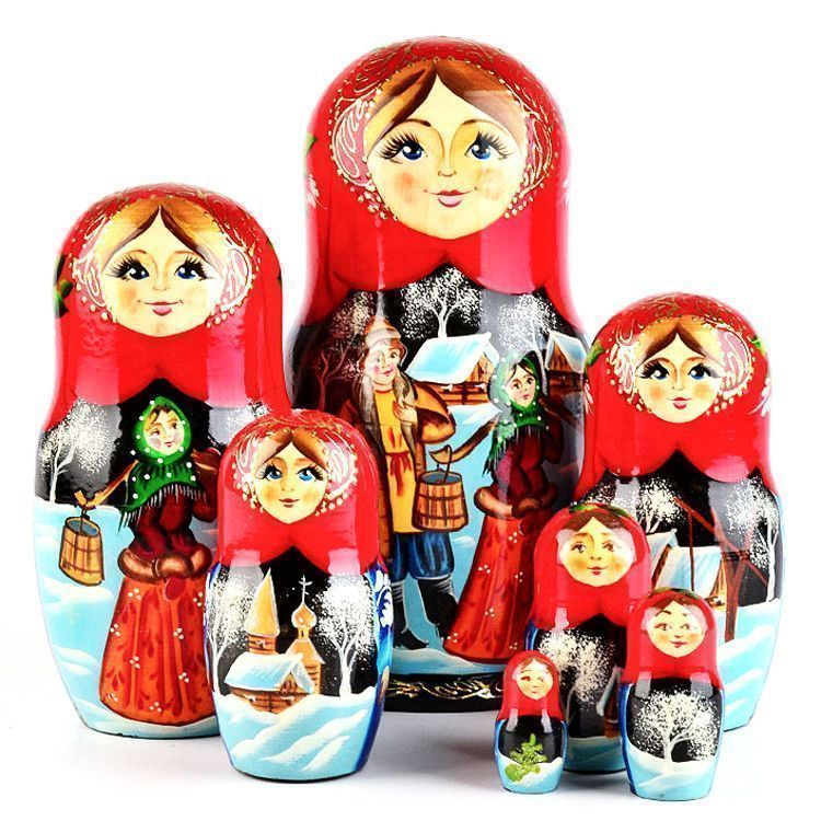 Russian Winter Stacking Doll
