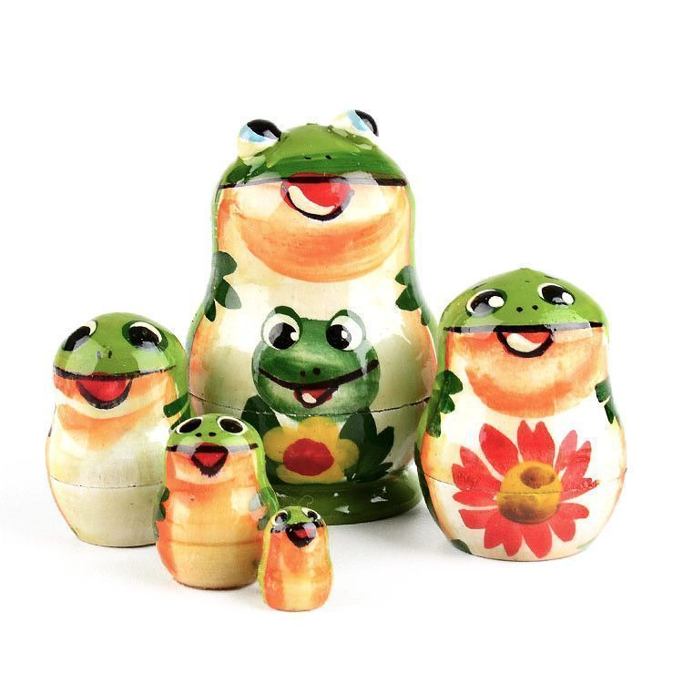 "2"" Happy Froggy Family Matrtyoshka"