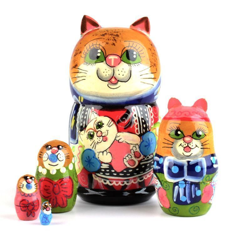 Mamma Cat Matryoshka Doll