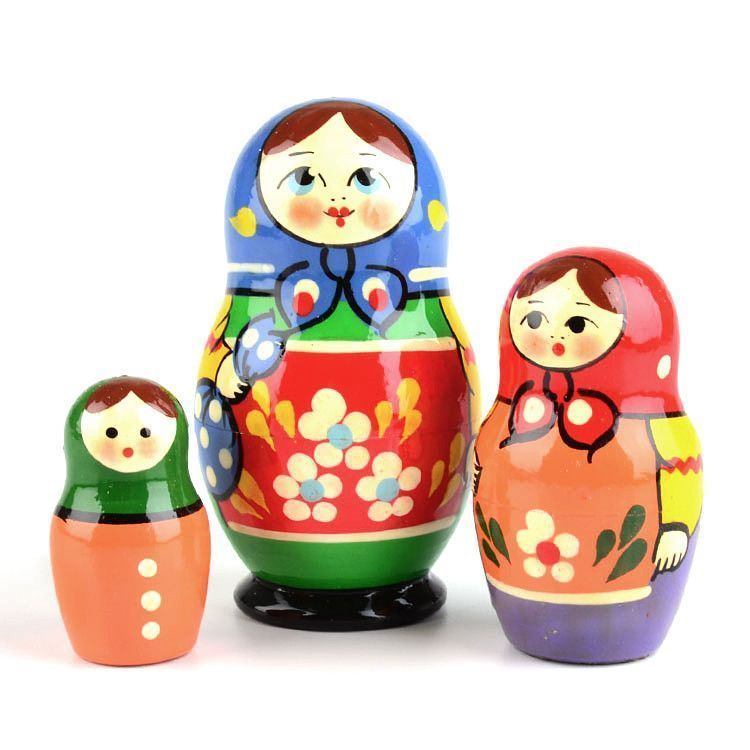Colorful 3 Piece Matryoshka