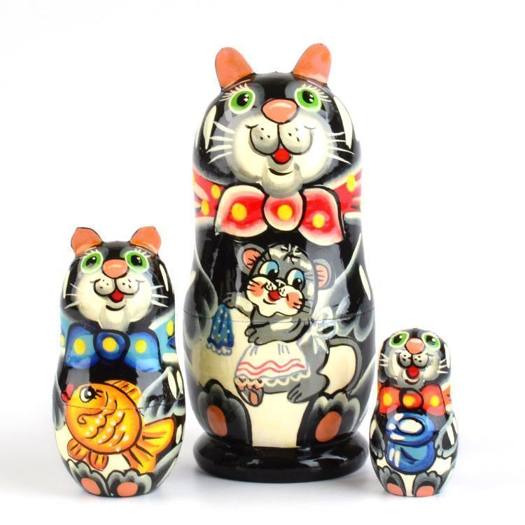 Kitty-Cat Russian Nested Doll