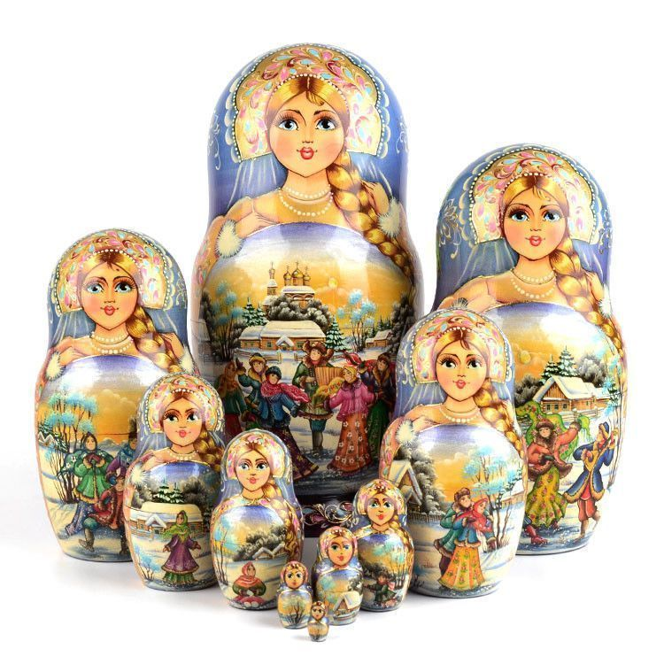 Fun Winter Collectible Matryoshka