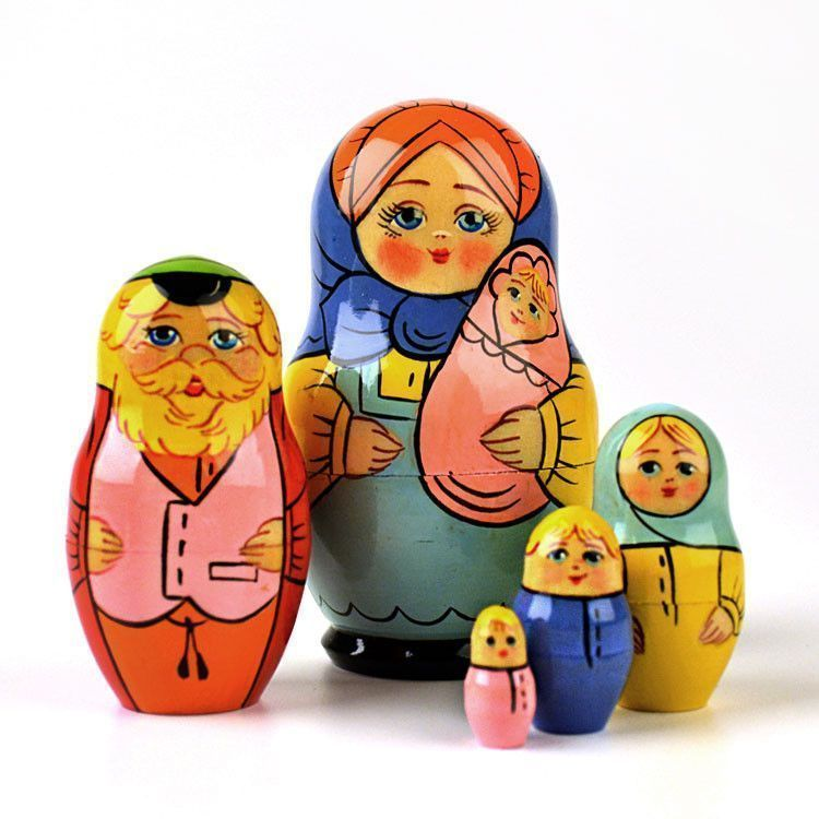 Colorful Family Nesting Doll