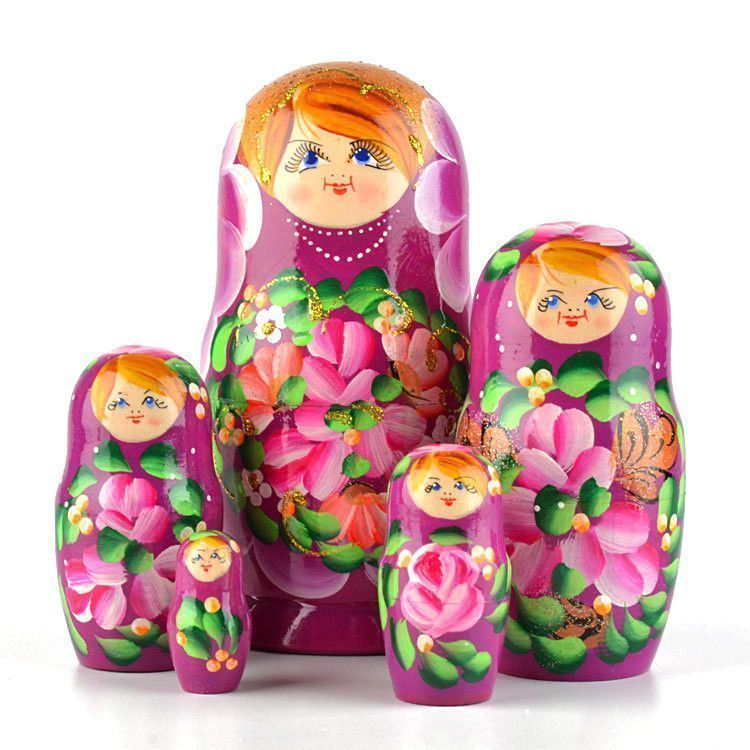 Purple 5pc Babushka