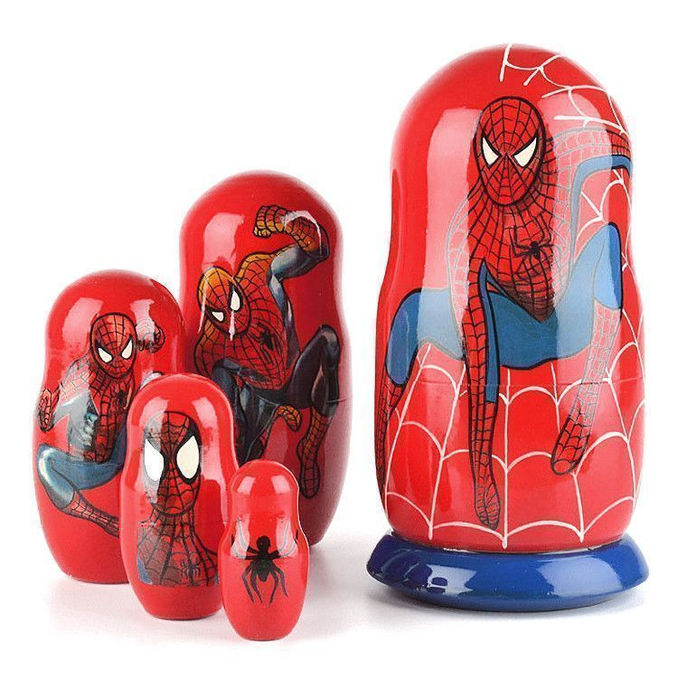 "7"" Tall Spider Man Stacking Doll"
