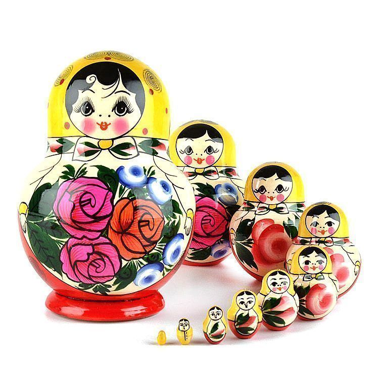 Round Traditional Matryoshka