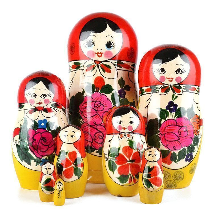 Classic 8pc Wooden Matryoshka