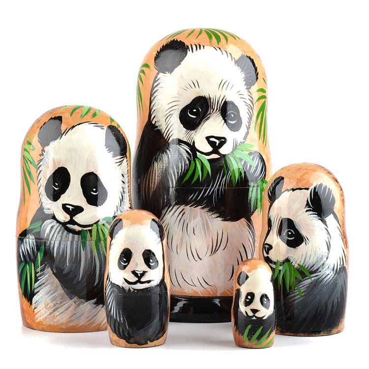 Panda Bear Stacking Doll