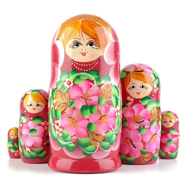Pink 5pc Nesting Doll