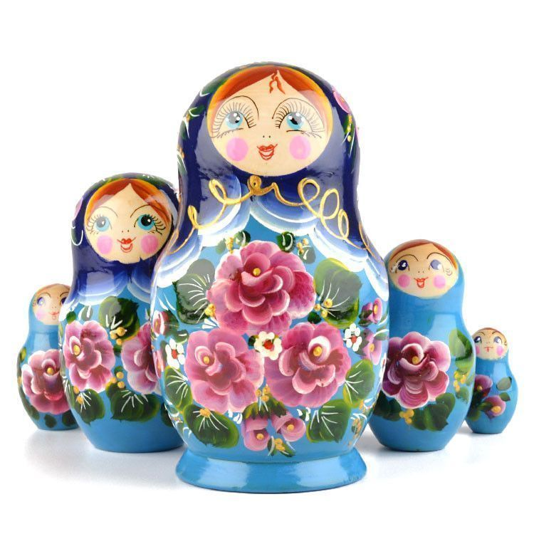 Floral Stacking Doll