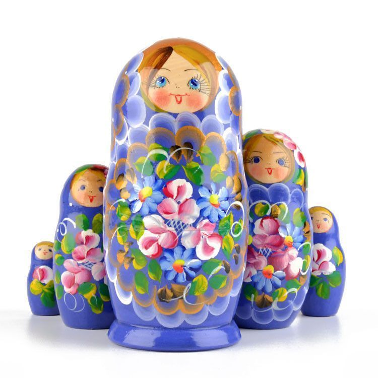 Floral 5pc Stacking Doll