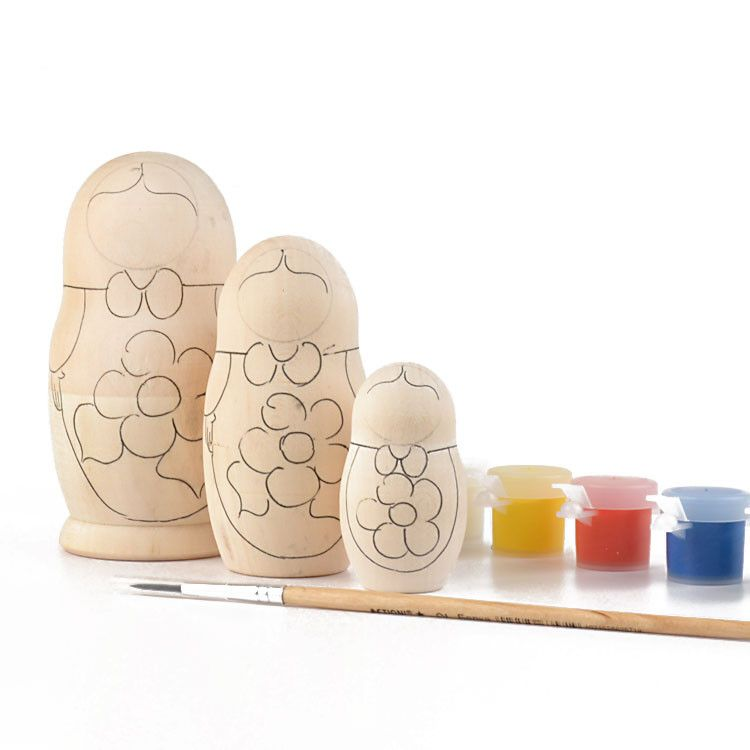 Paint Your Own Blank Nesting Doll 3pc