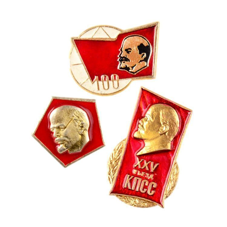 Set of Lenin collectible Pins