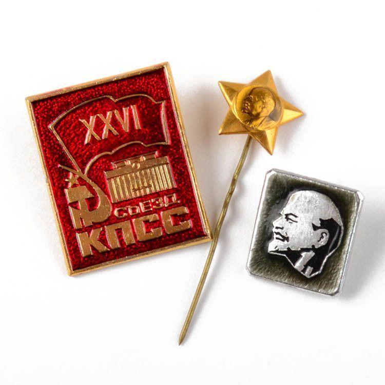 Collectible Set of Lenin Pins