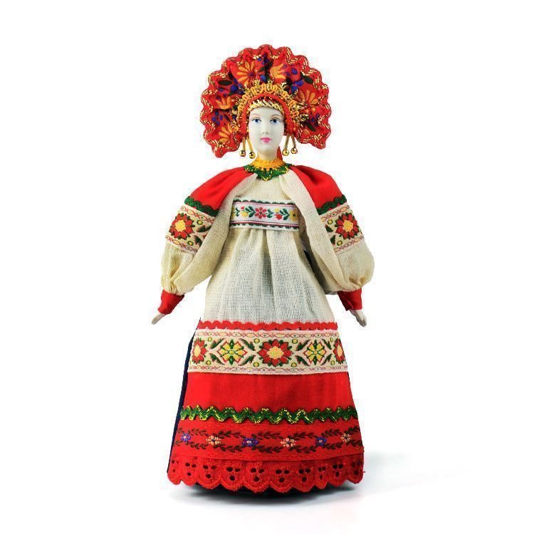 Russian Porcelain Dolls: Russian Traditional Costume Doll
