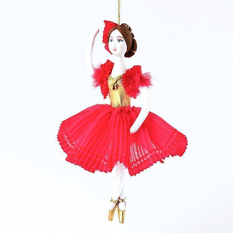 Red Ballerina Ornament