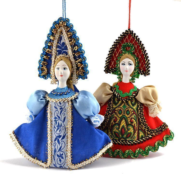 Russian Girls Ornaments