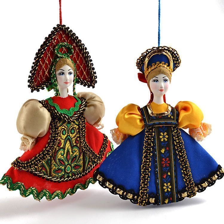 Russian Princess Ornament Dolls