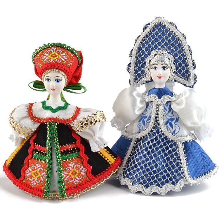 Russian Girl Doll Ornaments