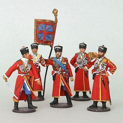 Russian Cossack Pewter Soldiers