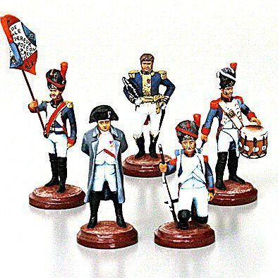 Napoleon with French Troops Tin Soldiers Set