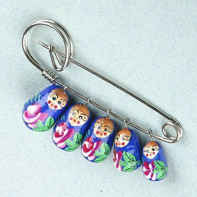 Fun Russian Matryoshka Pin