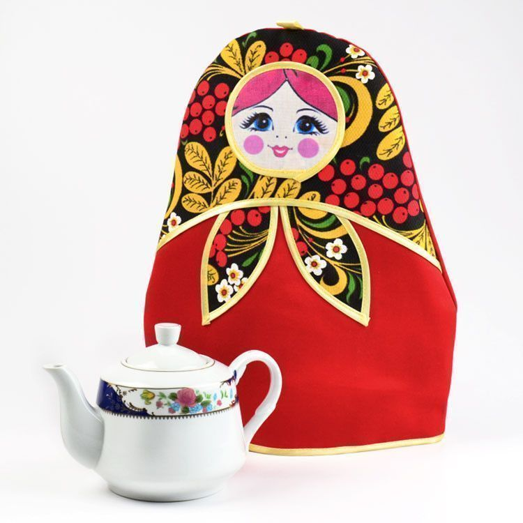 Khokhloma Doll Tea Cozy
