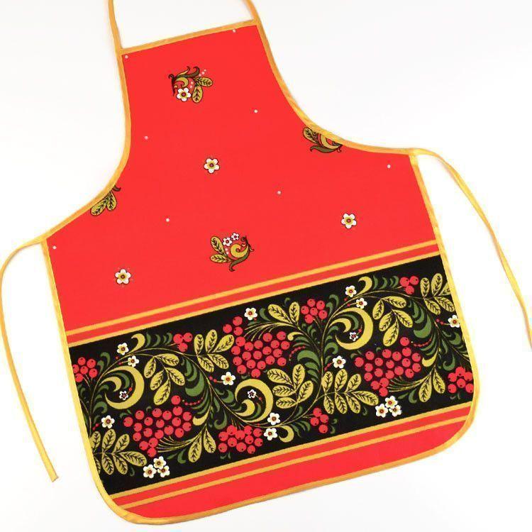 Bright Red Apron from Russia
