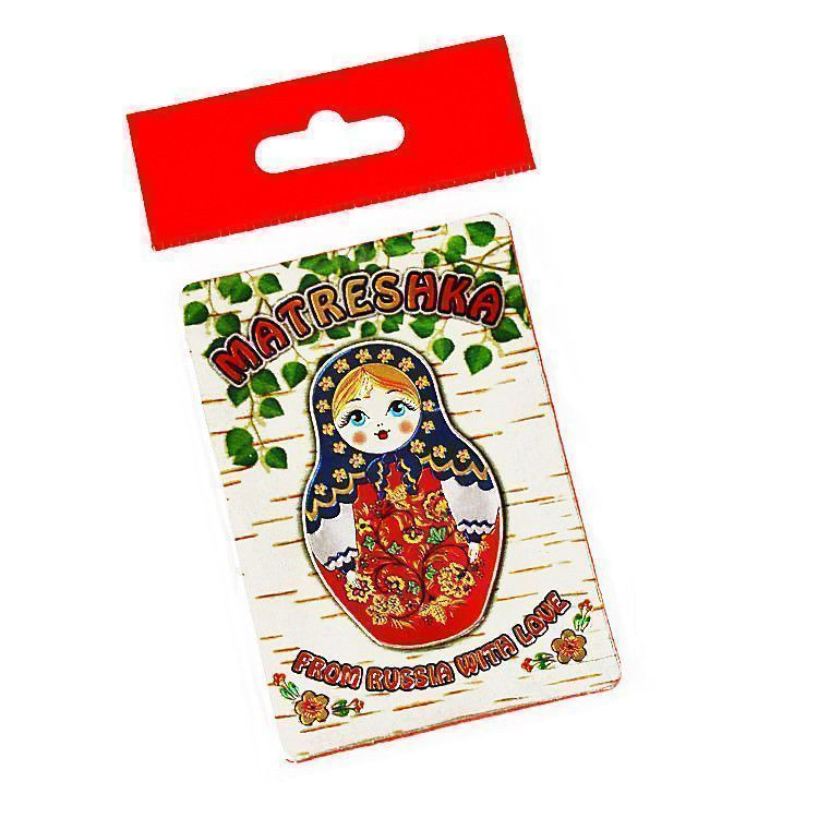 Metallic Matreshka Magnet