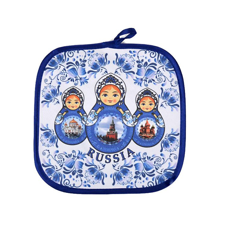Blue and White Russia Potholder