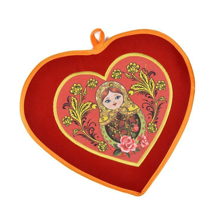 Heart Shaped Potholder - Red
