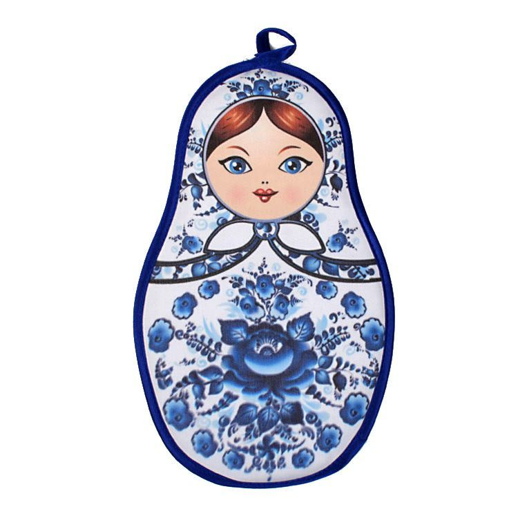 Blue Floral Matryoshka Pot Holder
