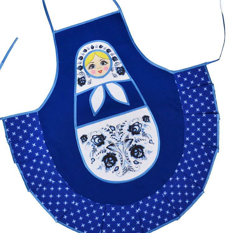 Kitchen Apron - Blue Russian Doll