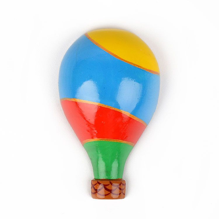 Hot Air Balloon Wooden Magnet