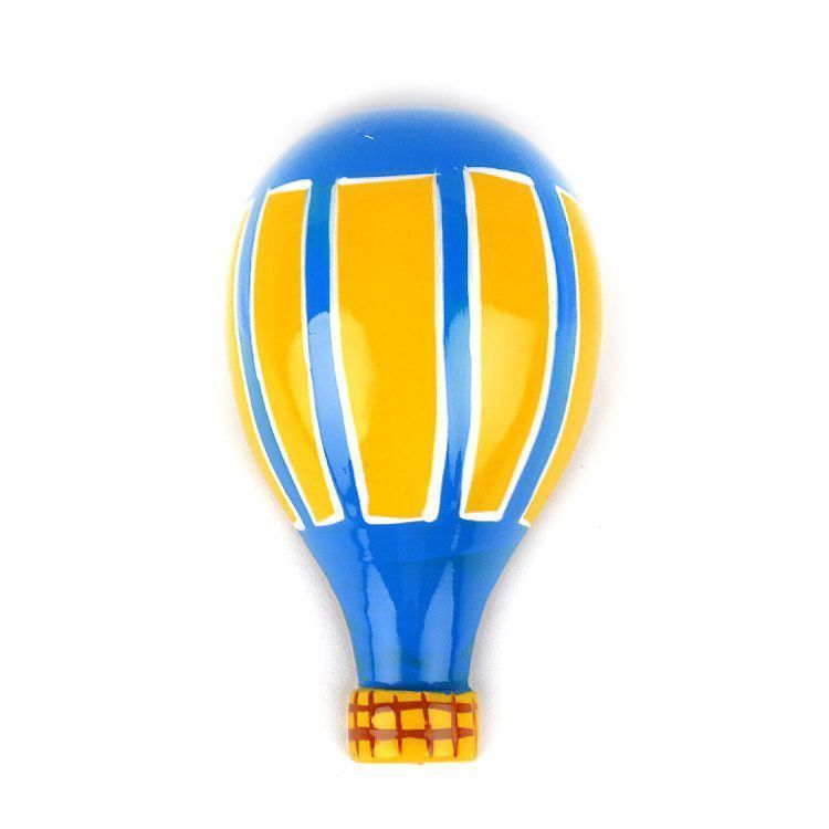 Wooden Hot Air Balloon Souvenir Magnet