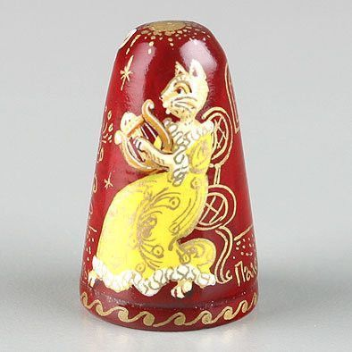 Cats The Musicians Russian Thimble