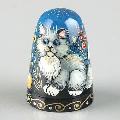 Cats And Butterfly Thimble