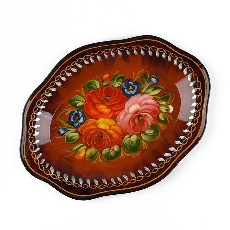"9"" x 7"" Zhostovo Serving Tray"