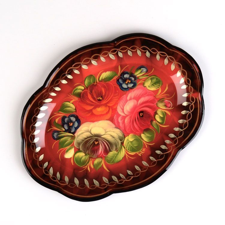 Small Oval Zhostovo Tray