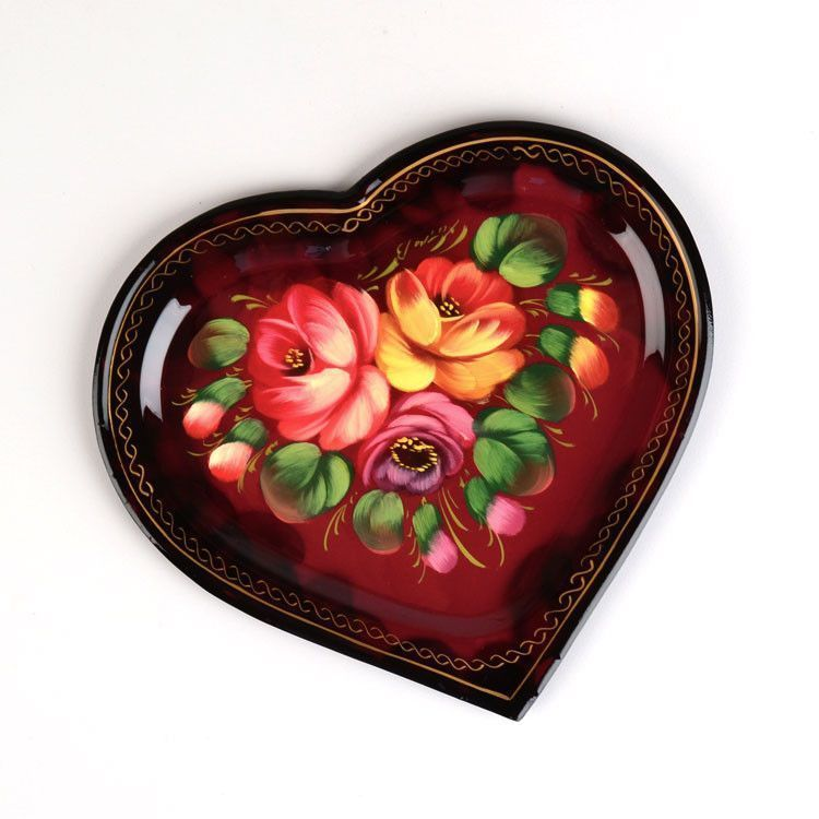Zhostovo Tray Heart