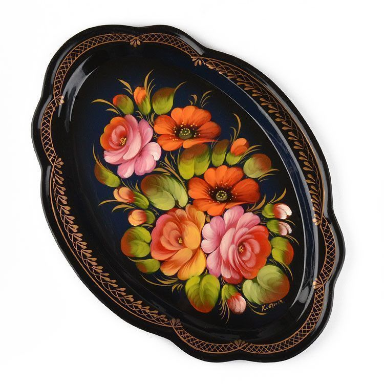 13 x 9 Russian Decorative Platter Tray