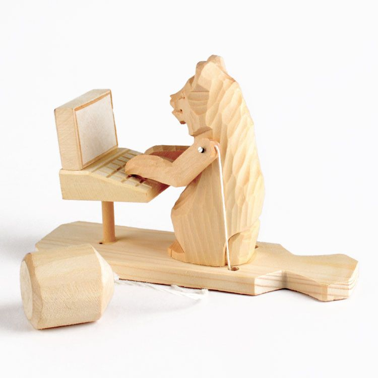 Russian Toy - Bear On Computer