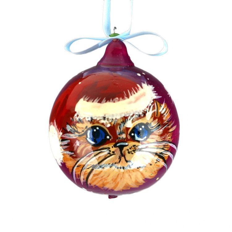 Cat Christmas Ball Ornament